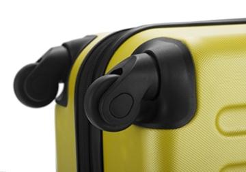 Koffer mit 4 Rollen gelb